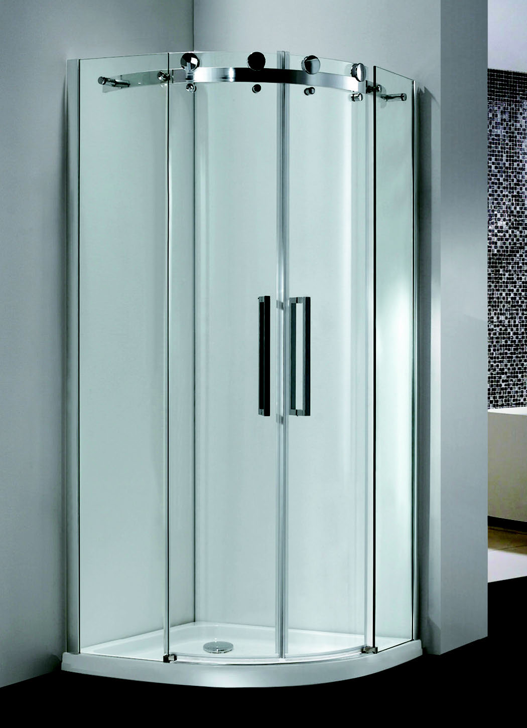 Db Frameless Twin Door Equal Quad 8mm Contemporary Trade